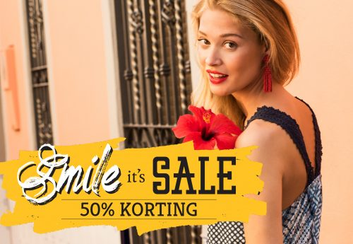 SALE IS HERE: 50% KORTING