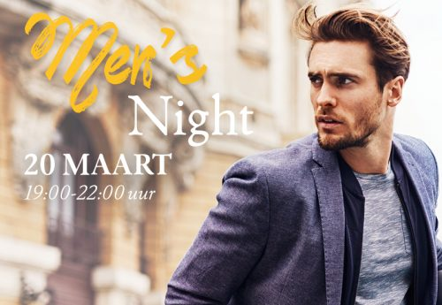20 maart: de eerste Men's Night!